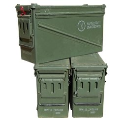 U.S. Military 40MM Ammo Can Grade 1 (3 Pack)