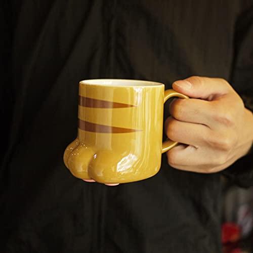 Tazas de Gato Tazas de la Pata del Gato de Porcelana, Tazas de Utensilios de Cocina con inspiración de la Pata de Gato y Tazas de Tazas de Taza de café Chenhuanbakeyji