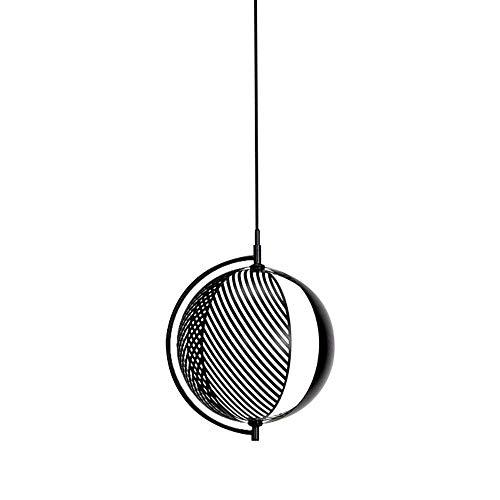 Candelabro, Bola Colgante de luz Sombra Blanco y Negro Candelabro de diseño posmoderno Arte Creativo Ático Porche Restaurante Lámpara Colgante Base de Hierro Forjado E27