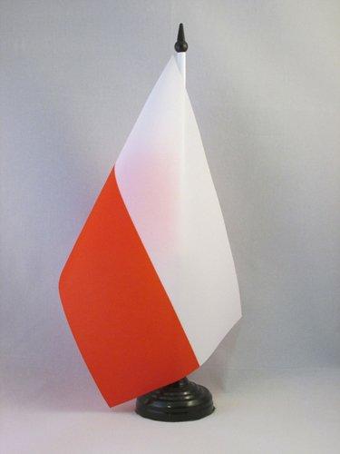 AZ FLAG TISCHFLAGGE Polen 21x14cm - POLNISCHE TISCHFAHNE 14 x 21 cm - flaggen