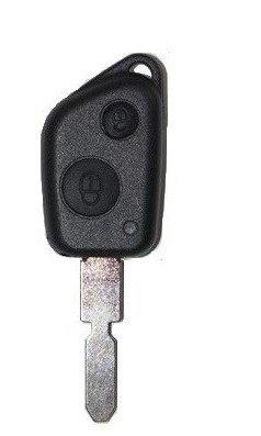 CLE-AUTO Coque clé PLIP Peugeot 2 Boutons 106 306 406 607 sans Logo