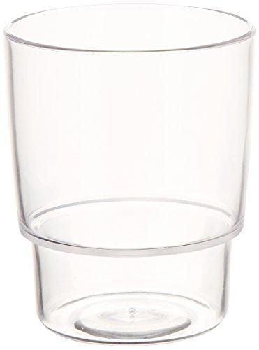 WENKO Vaso de higiene dental de repuesto Pure, Polipropileno, 7.5 x 9.5 x 7.5 cm, Transparente