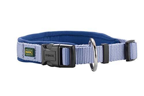 HUNTER NEOPREN VARIO PLUS Halsung, Hundehalsband, Nylon, mit Neopren gepolstert, 40/2,0 (S-M), blau