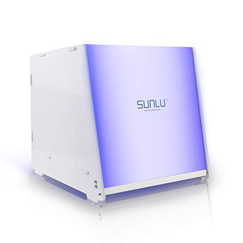 Actualizado SUNLU Caja de curado de resina UV adecuada para lámpara de secado de resina de 405nm con temporizador eléctrico y ajustable para impresora 3D SLA DLP LCD y modelo UV