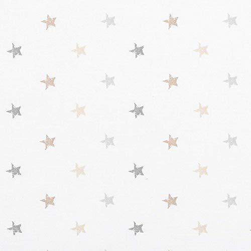 P'tit Basile - Drap plat pour lit bébé 100% coton Bio - Imprimé étoiles - Coton certifié GOTS et Oekotex