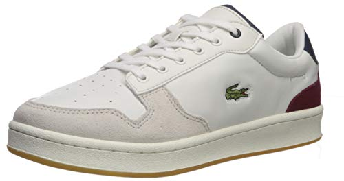 Lacoste Masters – Zapatillas para Hombre, Off White/Nvy/Dark Red, 8.5 US