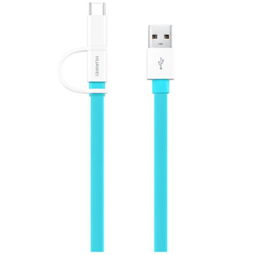 Huawei Cabo Dados 2-in-1 USB-A to Micro USB/Type-C 1.5m Blue