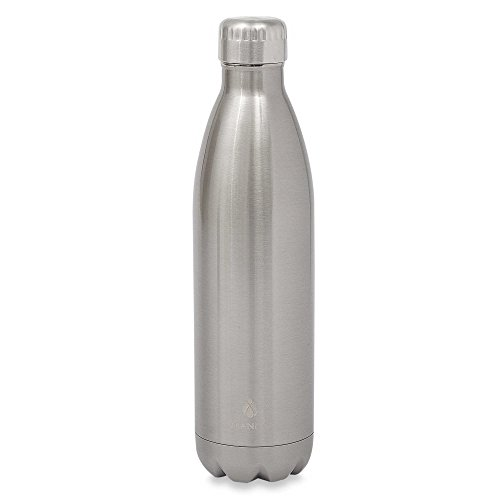 Manna Vogue 25 oz. Stainless Steel Double Wall Water Bottle (Silver)