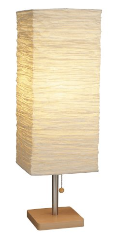 Adesso 8021-12 Dune Table Lamp - Wood Base Desk Lamp - Lighting Fixture for Living Room, Bedroom. Home Decor Item