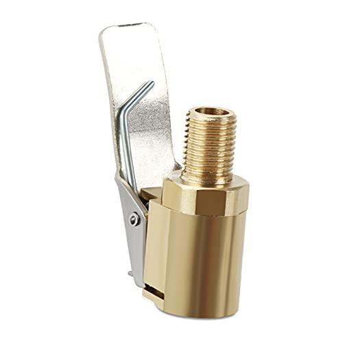 LIANGKU 1 unid coche auto latón 8 mm rueda rueda neumático de rueda de aire hinchador bomba bomba clip clip conector adaptador accesorios para el automóvil para el compresor durable (Color : Yellow)