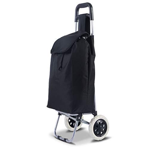 Costway ショッピングカート ショッピングキャリー 折りたたみ 耐荷重35kg 大容量35L ショッピング キャリー カート 買い物カート