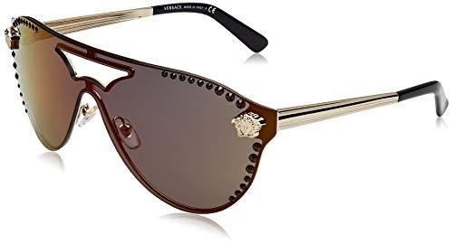 Versace Damen 1252W6 Sonnenbrille, Gold (Pale Gold), 45