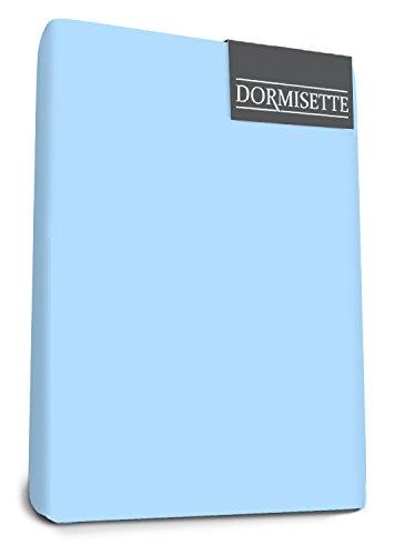 Bed-Mode Dormisette Mako Jersey Elastaan Split Topper Hoeslaken 140/160 X 200/220 cm Blauw, Satijn, Dubbel