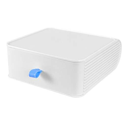 Cabilock Organizador de Escritorio Caja de Cajones Solución Apilable Gabinete de Almacenamiento para Suministros de Oficina Artículos de Tocador de Baño Productos Blanco