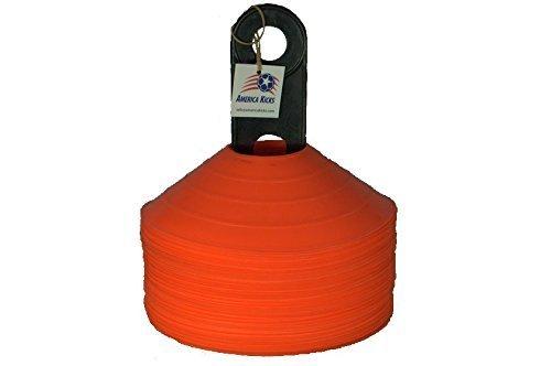 Disc Cones - Set of 50 Orange With Carrier