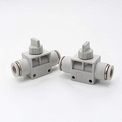 LLine Snelkoppeling handventiel snelle schroef snelheidsregeling gasklep wit kunststof pneumatische componenten, HVFF4