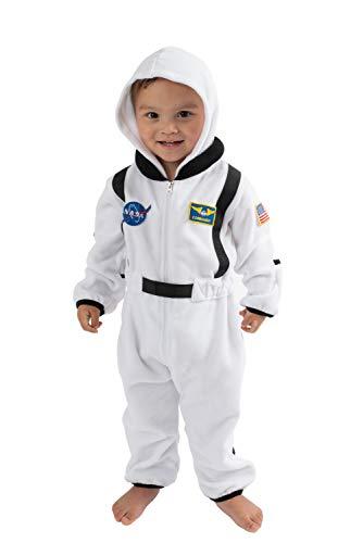 Cuddle Club Mono Polar Bebé para Recién Nacidos a Niños 4 Años - Pijamas Infantiles Chaqueta de Invierno Abrigo Polar Niño Mono de Niños - AstronautWhite18-24m