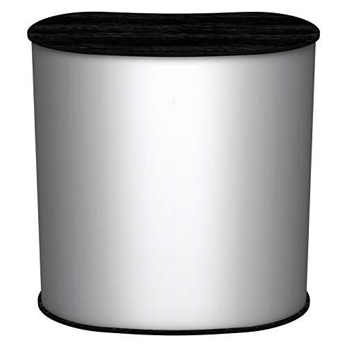 Lamellen Counter   ✓ Lamellentheke   ✓ Messetheke   ✓ Promotiontheke   ✓ Verkaufstheke von Vispronet® (Schwarz, Oval)