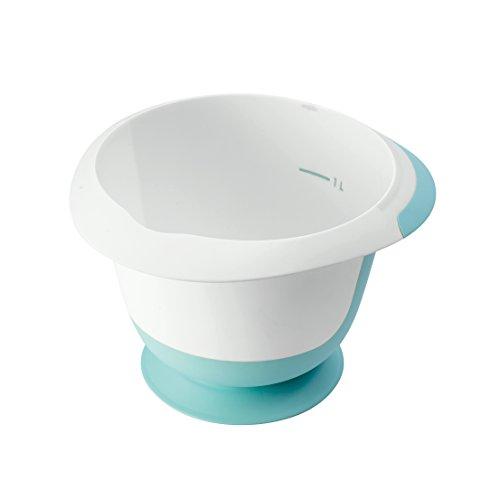 keeeper Rührschüssel mit Saugnapf und Anti-Rutsch-Oberfläche, BPA-freier Kunststoff, 1,5 l, Mariella, Mintgrün/Weiß