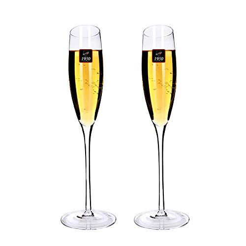 Handgemaakte Kristal Glas Oblique Champagne Glas 186ml Wijnset mousserende Wijnglas Zoete Wijn Glas Goblet 2 stks
