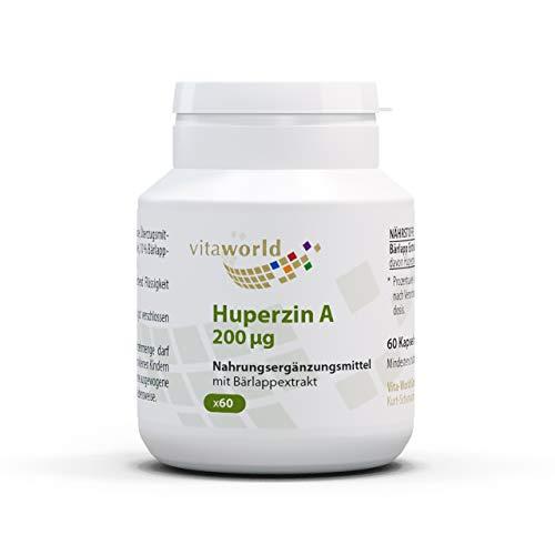 3er Pack Vita World Huperzin A 200 µg aus Bärlapp-Extrakt 60 Kapseln Apotheker Herstellung