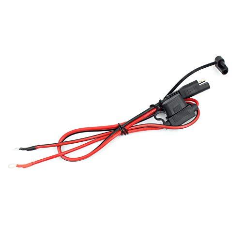 QIXUNET Adapterkabel für Motorradbatterieladegerät, SAE-Ladekabel, SAE-Schnellkupplung zur 12-V-Ringsicherung