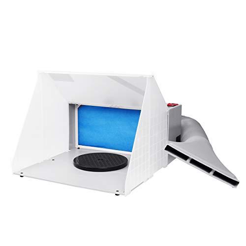 Kit de cabina de pulverización de pintura con aerógrafo portátil para hobby, conjunto de extractor de filtro de escape, modelo