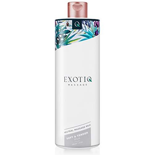 Exotiq Doux & Tendre Lait de Massage (500ml - 17oz) - avec un Effet Hydratant pour un Massage Soyeux et Lisse - Parfait pour un Massage Attentionné et Relaxant; Convient à Toutes Les Peaux