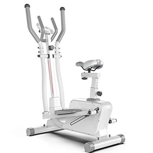 DJDLLZY Máquina de ejercicio elíptica magnética con manivela para una mayor intensidad y durabilidad, monitor para entrenamiento cardiovascular en casa