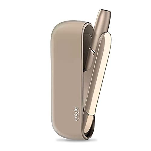 CABLE TPU Case Cover per IQOS 3-3 Duo, Custodia Trasparente Fumè in Silicone, Protezione Morbida contro Graffi e Cadute Accidentali (Smoke)