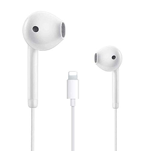 Lighting Connector Earbuds Earphone Wired Headphones Headset with Mic and Volume Control,Isolation Noise,Compatible with Apple iPhone 11 Pro Max/Xs Max/XR/X/7/8 Plus Plug and Play Disc Cleaners