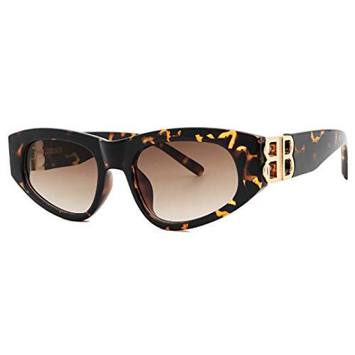 HAOMAO Gafas de Sol de Ojo de Gato con Diamantes de imitación Vintage sin Montura para Mujer, Gafas de Color Caramelo para Mujer, Gafas Triangulares Uv400 Multi