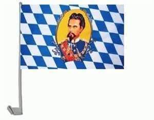 Everflag Auto-Fahne: Bayern König Ludwig
