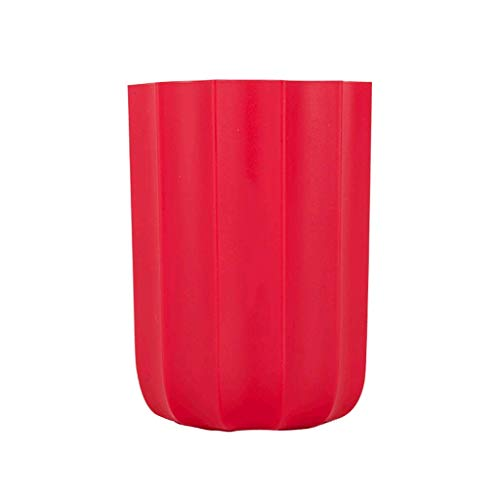 MLOZS Soporte de lápiz de borde,Organizador de escritorio,Soporte de cepillo de maquillaje accesorio de escritorio de oficina,Caja de papelería multifuncional rojo