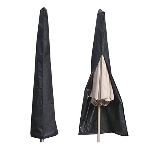 GUOXIANG Funda protectora para sombrillas de 200 cm hasta 300 cm de diámetro, impermeable, transpirable y resistente a los rayos UV – Cubierta premium de poliéster Oxford 210D (265 x 50/70/40 cm)