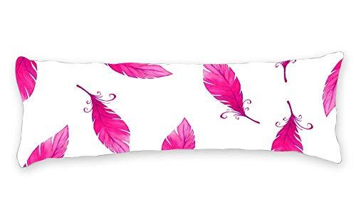 Fhdang Decor Taie d'oreiller de Corps avec Fermeture éclair Maternité Grossesse Long Body Pillow Cover Coton, Coton, Rose, King 5ft (60'')