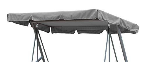 GRASEKAMP Qualität seit 1972 Ersatzdach Universal Hollywoodschaukel Grau Ersatz-Bezug Sonnendach Dachplane