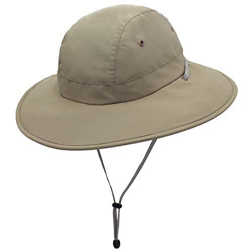 outfly UPF 50 sombreros de sol de ala ancha de malla de verano protección UV Pesca senderismo cubo sombrero boonie sombreros para hombres correa de barbilla impermeable y transpirable