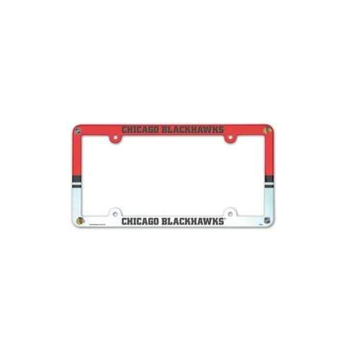 Wincraft NHL Chicago Blackhawks Full Color License Plate Frame, Team Color, One Size
