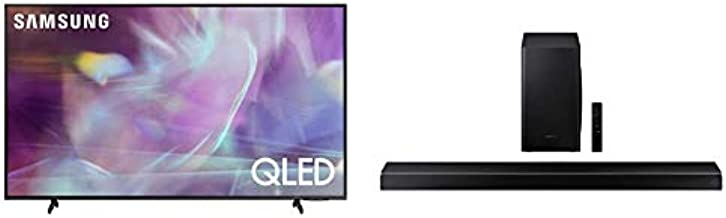 SAMSUNG 85-inch Class Q60A Series – QLED 4K UHD Smart TV with Alexa Built-in (QN85Q60AAFXZA, 2021 Model) and HW-Q60T 5.1ch Soundbar with 3D Surround Sound and Acoustic Beam (2020), Black