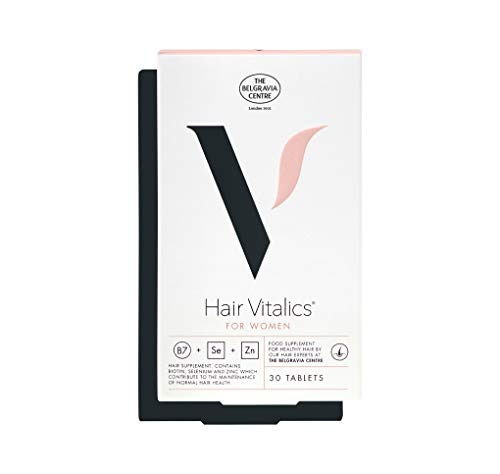Hair Vitalics for Women (1 month) - Hair Growth Supplement from The Belgravia Centre - The UK's Leading Hair Loss Clinic | Containing Grape Seed Extract, Biotin, Zinc, Selenium, and more