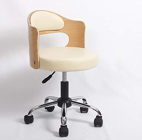 Lwjjby Echt leer en echt leer Moderne Moderne Moderne bureaustoel, In hoogte Verstelbare Kantoortaakstoel, Vintage Design Stoel met rugleuning