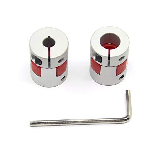 Befenybay 2PCS 6mm to 10mm Aluminium Plum Flexible Shaft Coupling Diameter 20mm Length 25mm Connector Flexible Coupler for 3D Printer CNC Machine and Servo Stepped Motor(6x10mm)