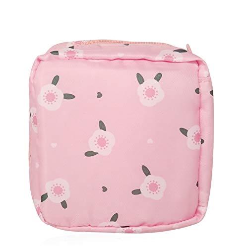 Honbay Cute Stylish Large Capacity Sanitary Napkin Bag, Tampons Pouch, Nursing Pad Holder, Coin Purse, Makeup Bag