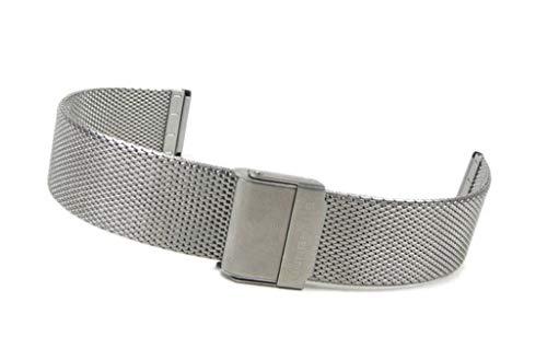 Junghans Max Bill 420/5060.09 - Cinturino per orologio in acciaio inossidabile Milanese 18 mm