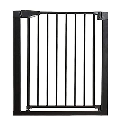 GXQ Barrera de Seguridad de Niños para Puertas Y Escaleras Close N Stop Safety Incl. Valla de Seguridad de Escalera O Pasillo para, Cierre Rápido, Sin Agujeros, Extraseguro, Negro(Size:75-82cm)