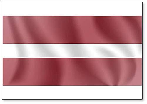 Kühlschrankmagnet, Motiv: Flagge der Republik Lettland