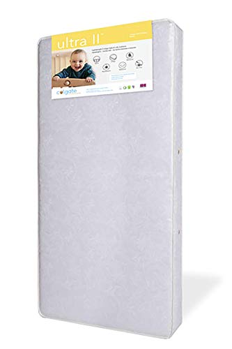 Ultra II Innerspring Crib Mattress by Colgate Mattress | Extra Comfort from Dual Layered Cushioning | Eco-Friendly | Durable | Breathable