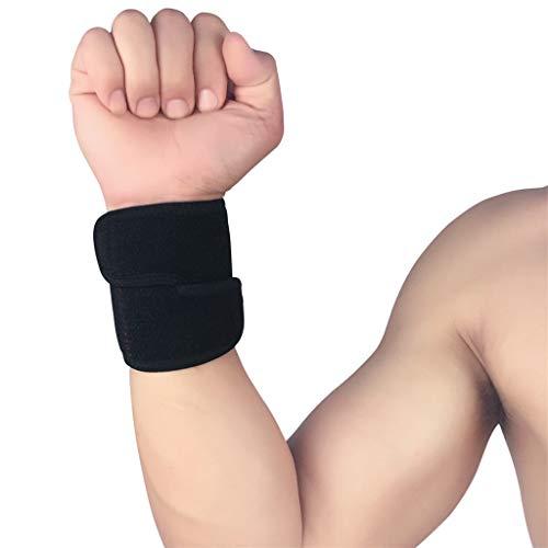UKtrade Protección de entrenamiento ajustable cinturón de muñeca Wrap elástico muñeca apoyo deportes pie protector equipo negro