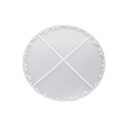 Baiyao Wellen-Untersetzer-Form, Unregelmäßige Wellen-runde Untersetzer-Silikon-Form-Epoxidharz-Form Für Die Schmucksachen, Die DIY Fertigkeit Bilden